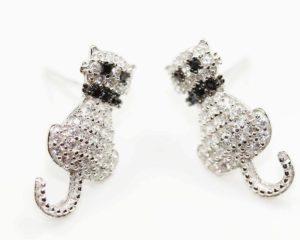 Cercei Cercei din argint cu pisici