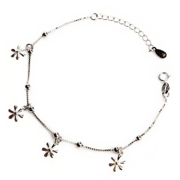Brățări Brăţară din argint cu floricele