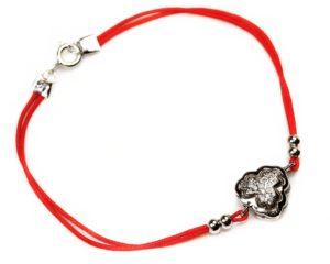 Brățări Brățară din argint cu șnur roșu