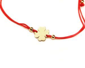 Brățări Brățară din aur cu șnur roșu