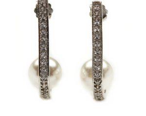 Cercei Cercei din argint cu perlă