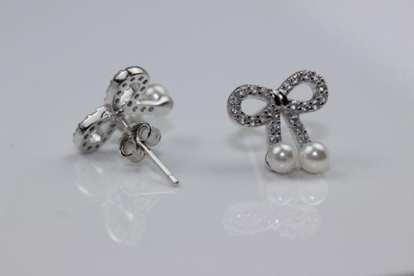 Cercei Cercei din argint fundă cu perle