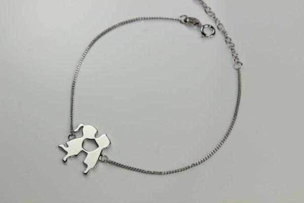 Brățări Brăţară din argint Îndrăgostiţi