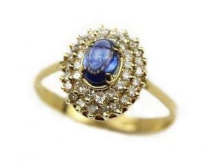 Inele Inel din aur 18k cu safir si diamante