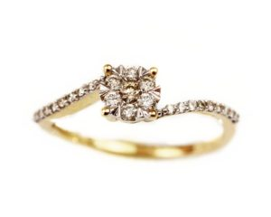Inele Inel din aur 18k cu diamante