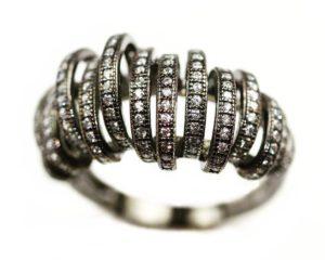 Inele Inel din argint placat cu rodiu negru