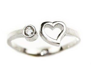 Inele Inel din argint cu inimă