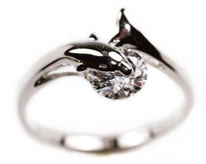 Inele Inel din argint delfin