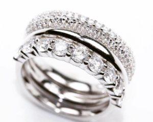Inele Inel din argint format din trei inele