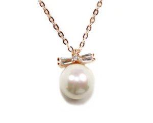 Lanțuri și coliere Lanţ din argint roz cu perlă