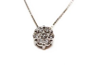 Lanțuri și coliere Lanţ din aur alb 18k cu diamante
