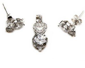 Seturi Set din argint cu inimioare