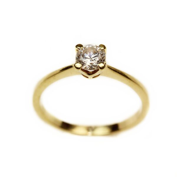 Inel de logodna din aur galben 18k