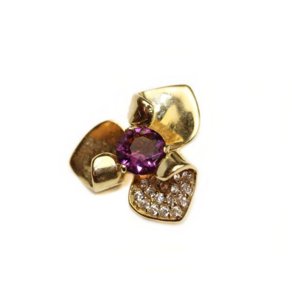 Pandantiv din aur 14k floare