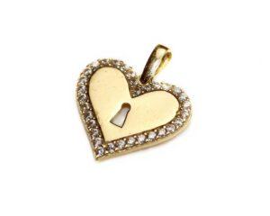 Pandantiv din aur inima
