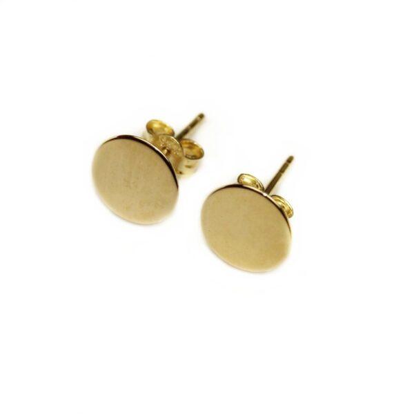 Cercei din aur banuti 8 mm