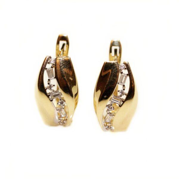Cercei din aur cu pietre
