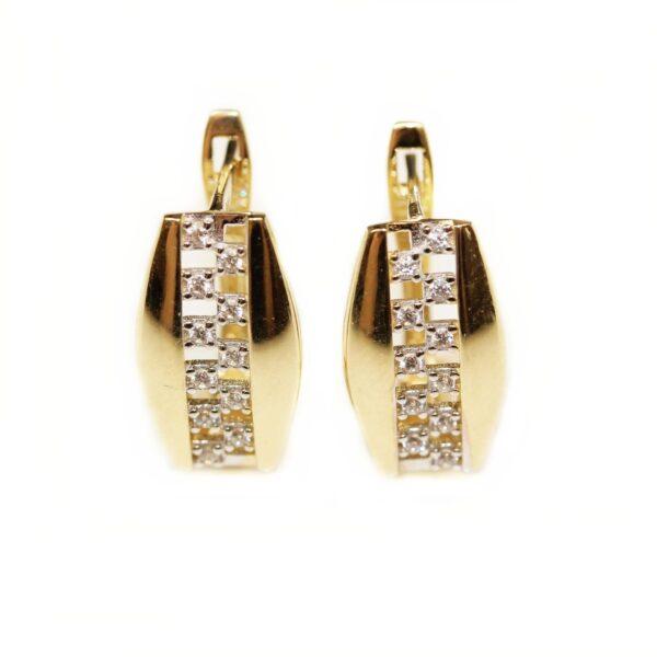 Cercei din aur cu zirconii
