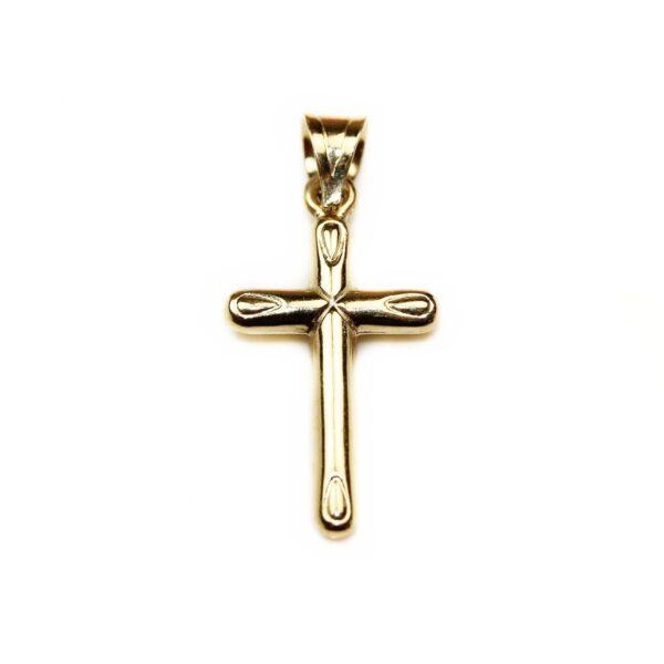Pandantiv cruciulita din aur galben 14k