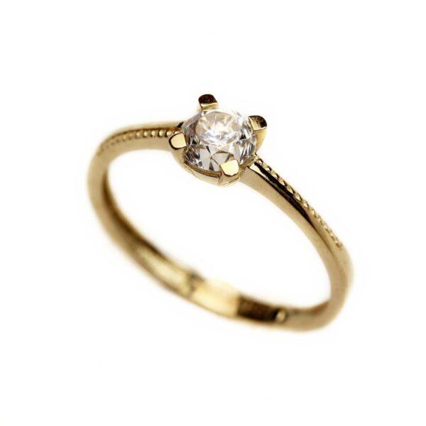 Inel de logodna din aur galben