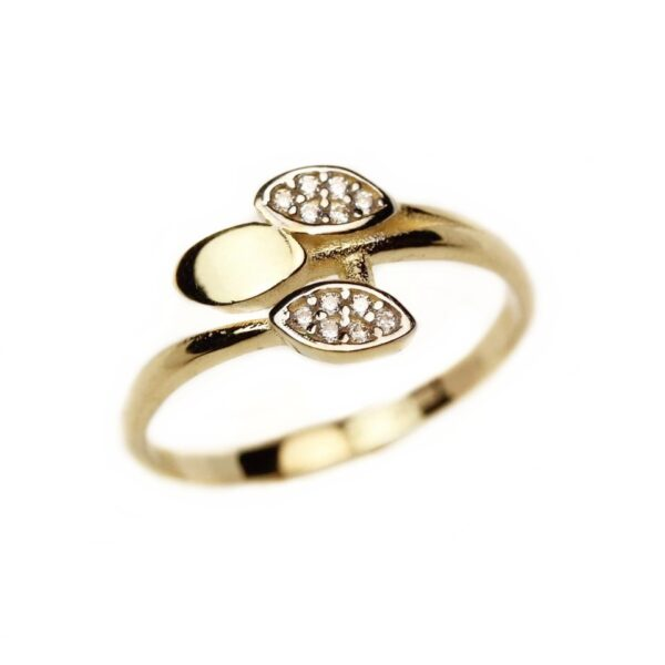 Inel din aur galben 14k marimea 55