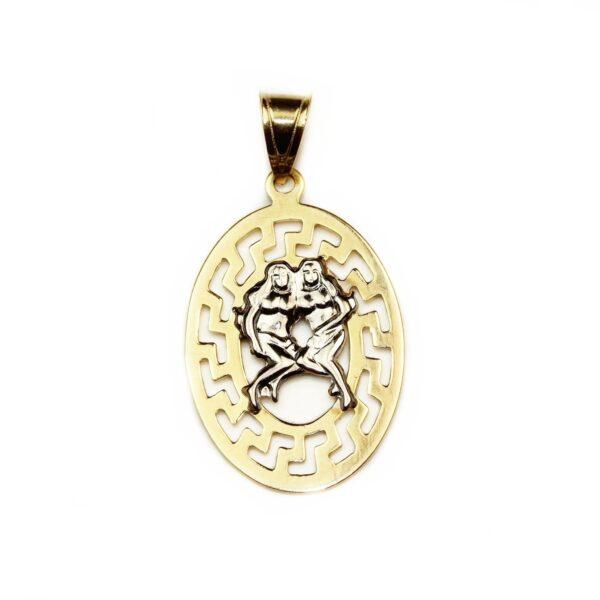 Pandantiv din aur zodia gemeni