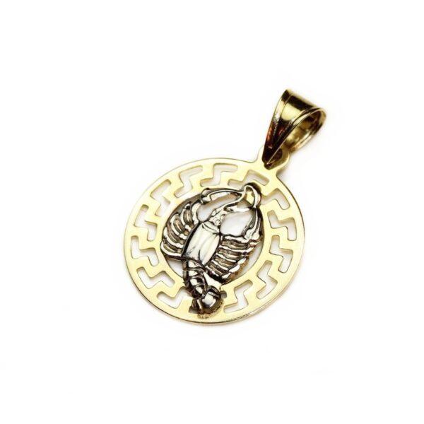 Pandantiv din aur zodia scorpion