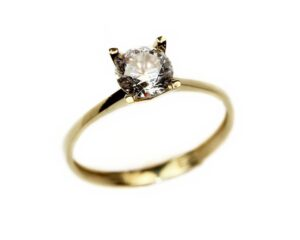 Inel de logodna din aur galben marimea 50