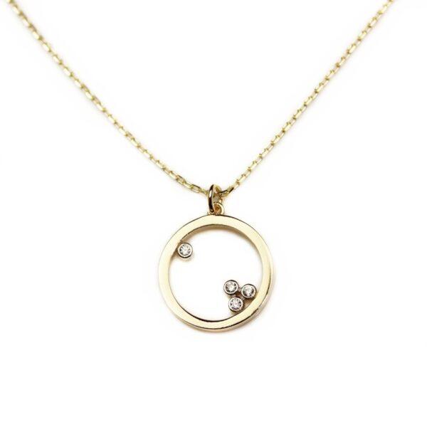 Lant din aur cu pandantiv Cerc