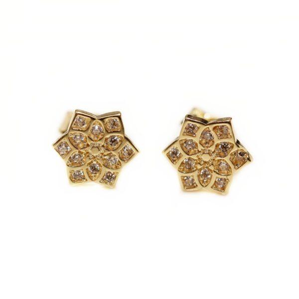 Cercei din aur floricica