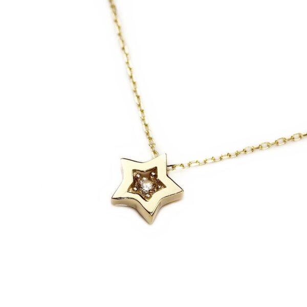 Lant din aur cu pandantiv stea
