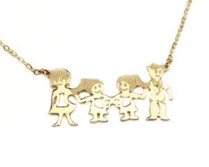 Lant din aur familia mea cu doua fete