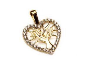 Pandantiv din aur copacul vietii
