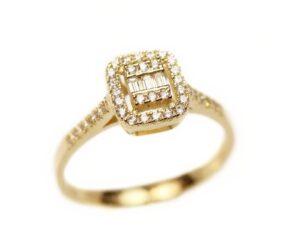 Inel din aur cu zirconii