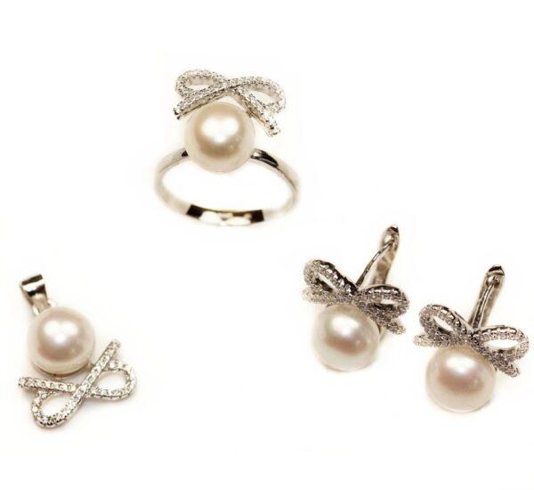 Set din argint cu perla
