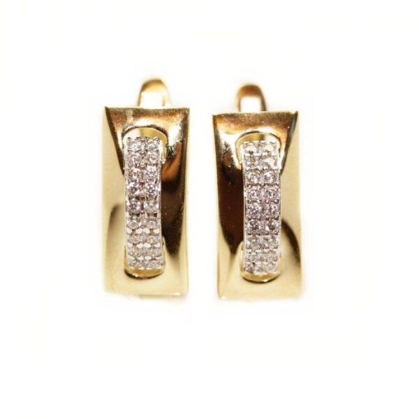 Cercei din aur galben 14k