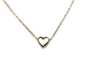 Lant din argint cu pandantiv inimioara
