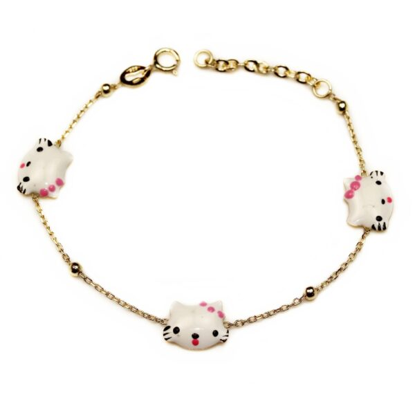 Bratara din aur pentru copii Hello Kitty