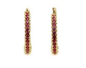 Cercei din aur pentru copii cu pietre roz