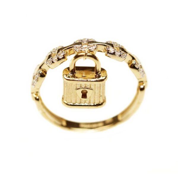 Inel din aur cu lacat