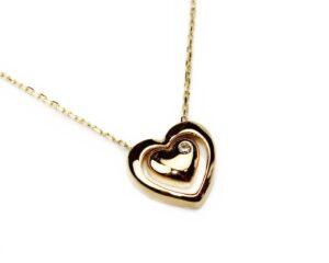 Lant din aur cu pandantiv inimioara