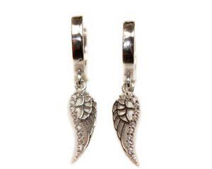 Cercei din argint cu aripa