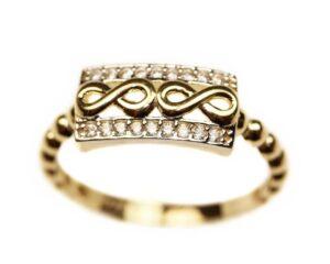 inel din aur cu semnul infinitului