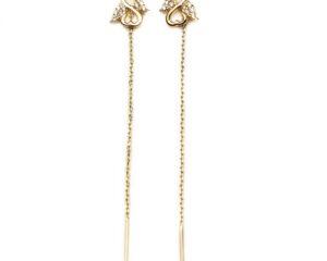 Cercei din aur cu lant