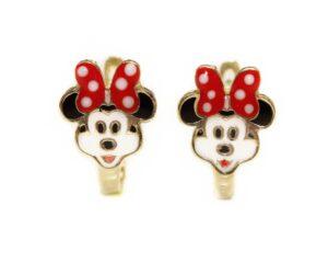 Cercei din aur pentru copii Minnie Mouse