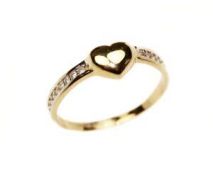 Inel din aur cu inima