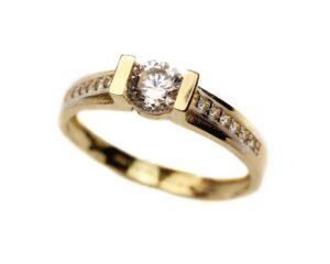 Inel de logodna din aur 14k
