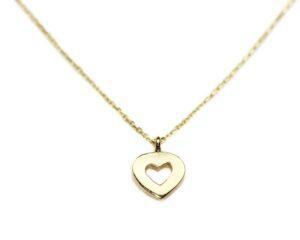 Lanț din aur cu pandantiv inimă